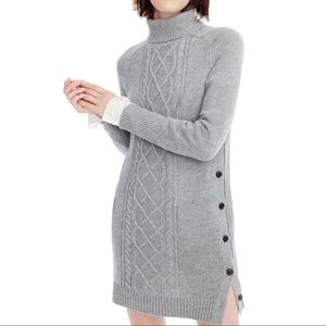 J.Crew Cable Knit Turtleneck Sweater Dress Size Sm